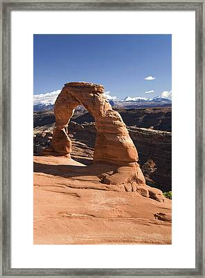 Delicate Arch Framed Print by Gloria & Richard Maschmeyer