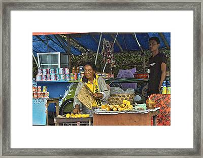 Delicious Corn - Bali Framed Print by Jocelyn Kahawai