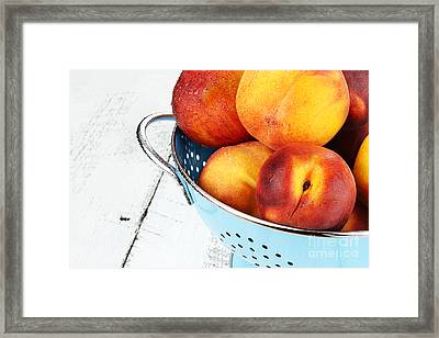 Delicious Peaches Framed Print by Stephanie Frey