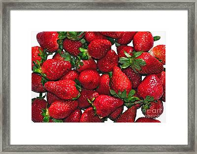 Deliciously Sweet Strawberries Framed Print