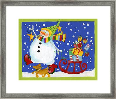 Delivering The Gifts Framed Print by Pat Olson