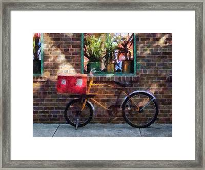 Delivery Bicycle Greenwich Village Framed Print by Susan Savad