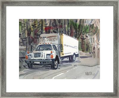 Delivery Truck Two Framed Print by Donald Maier