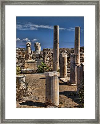 Delos Island Framed Print