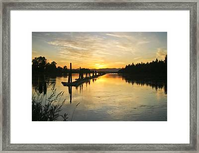 Framed Print featuring the photograph Delta Sunset by Albert Seger