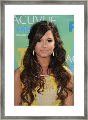 Demi Lovato At Arrivals For 2011 Teen Framed Print by Everett