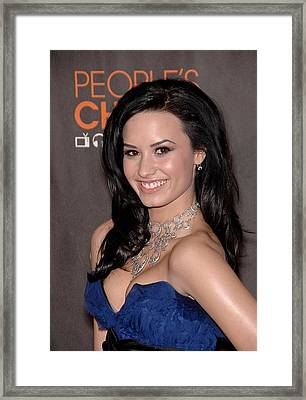 Demi Lovato At Arrivals For Peoples Framed Print