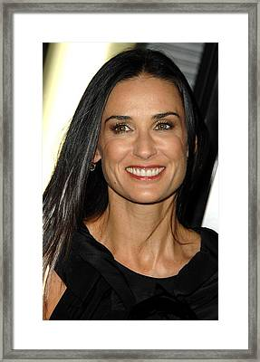 Demi Moore At Arrivals For Sorority Row Framed Print