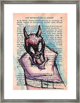 Demon In A Straightjacket Framed Print by Jera Sky
