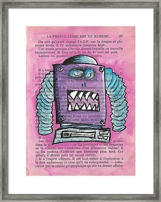 Demon Vhs Bot Framed Print by Jera Sky