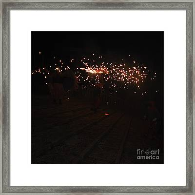 Demons Down The Stairs Framed Print by Agusti Pardo Rossello