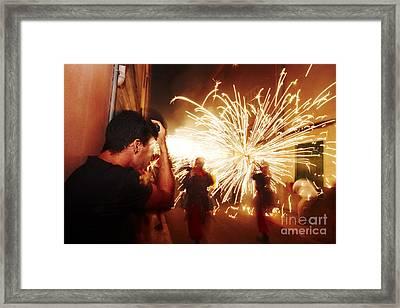Demons Fire Framed Print by Agusti Pardo Rossello