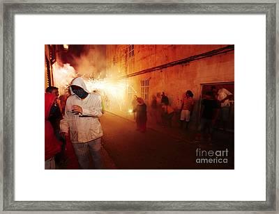 Demons In The Street Framed Print by Agusti Pardo Rossello