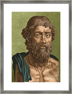 Demosthenes, Ancient Greek Orator Framed Print by Photo Researchers