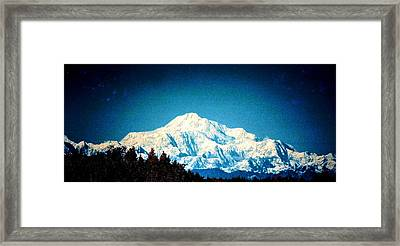 Denali In The Fall Framed Print