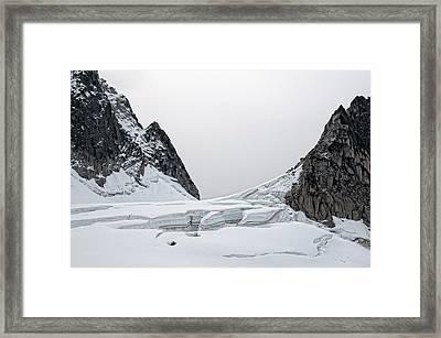 Denali Park Glacier Framed Print by Gary Rose