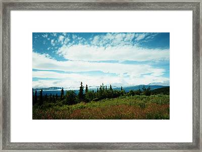 Denali Sleeps Behind Clouds Framed Print