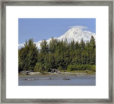 Denali View Framed Print by George Hawkins