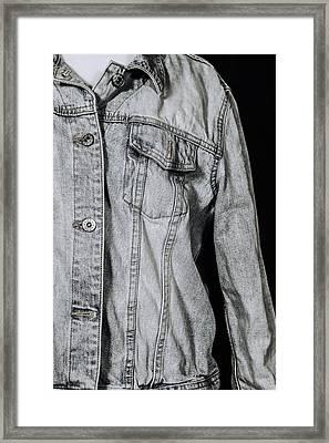 Denim Jacket Framed Print by Joana Kruse