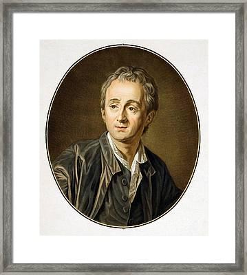 Dennis Diderot 1713-1784, French Framed Print