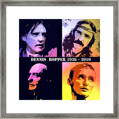 Dennis Hopper Framed Print by Steve K