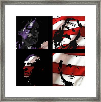 Dennis Hopper Tribute Framed Print by Steve K