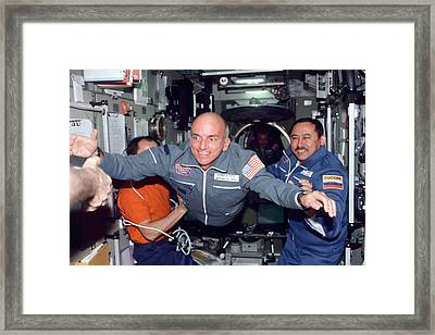 Dennis Tito, First Space Tourist Framed Print by Nasa