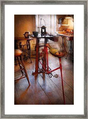 Dentist - Physically Demanding Work Framed Print by Mike Savad