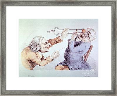 Dentistry Tooth Extraction 1810 Framed Print by Science Source