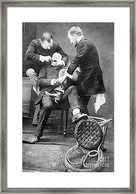 Dentistry Tooth Extraction 1892 Framed Print by Science Source