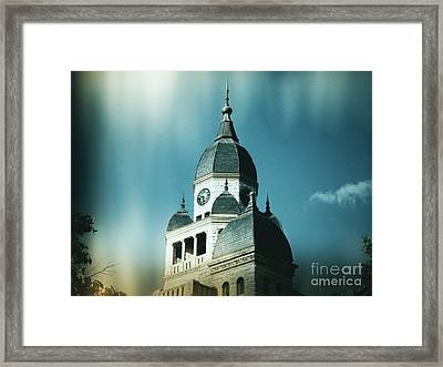 Denton County Courthouse Framed Print by Angela Wright