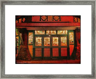 Dentzel Carousel As It Is Closing For The Night Framed Print