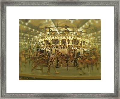 Dentzel Carousel At Glen Echo Park Maryland Framed Print