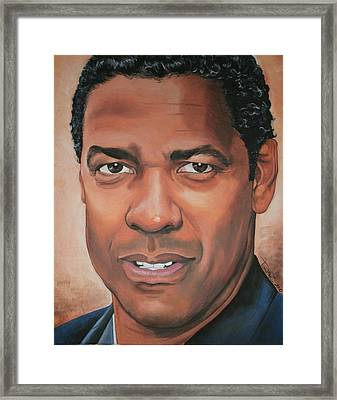 Denzel Washington Framed Print by Timothe Winstead