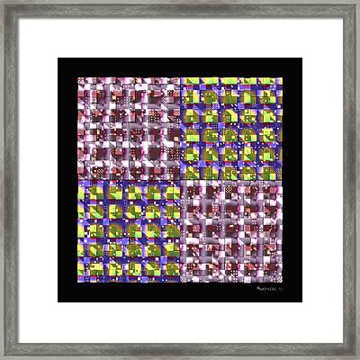 Denzone Tile 3 Framed Print by Walter Neal