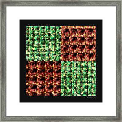 Denzone Tile 4 Framed Print by Walter Neal