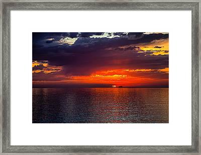 Departing At Dawn Framed Print