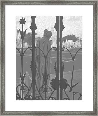 Framed Print featuring the photograph Departing Sorrow by Cheri Randolph