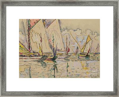 Departure Of Tuna Boats At Groix Framed Print