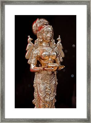 Depavali Festival South Street Seaport Nyc 10 02 11 Statuette Of Framed Print