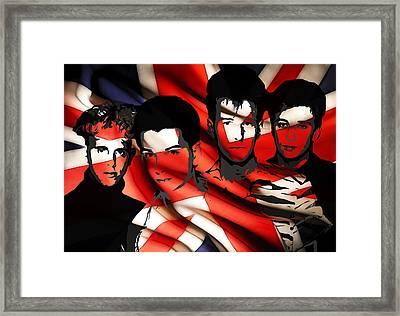 Depeche Mode 80s Heros Framed Print