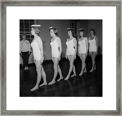 Deportment Class Framed Print by John Drysdale