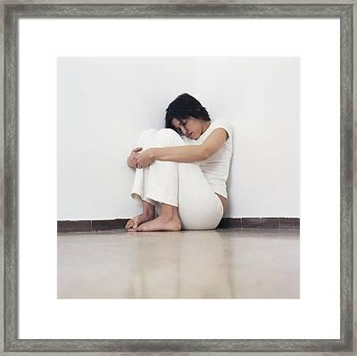Depressed Woman Framed Print by Cristina Pedrazzini