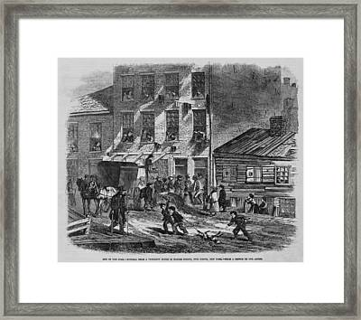 Depressing Scene Of Poverty At Five Framed Print by Everett