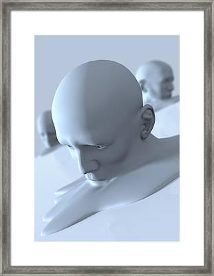 Depression, Conceptual Image Framed Print