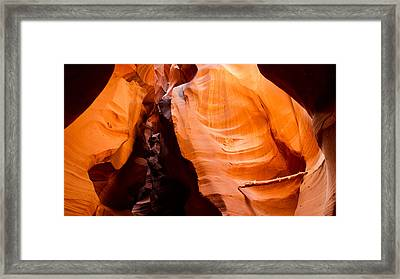 Depths Of The Canyon Framed Print by Adam Pender