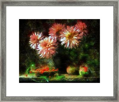 Depths Of Tranquility Framed Print by Georgiana Romanovna