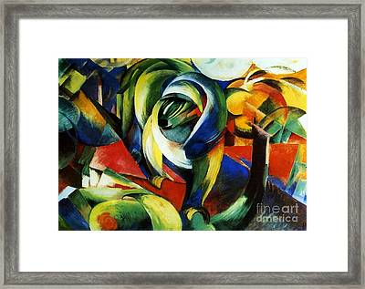 Der Mandrill Framed Print by Pg Reproductions