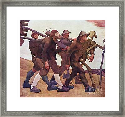 Der Totentanz Von Anno Neun Framed Print by Pg Reproductions