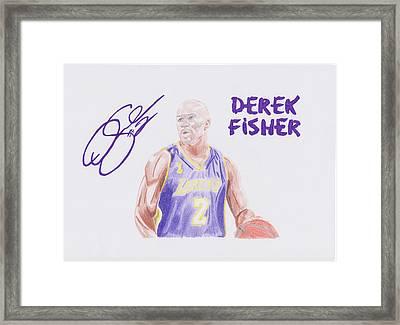 Derek Fisher Framed Print by Toni Jaso